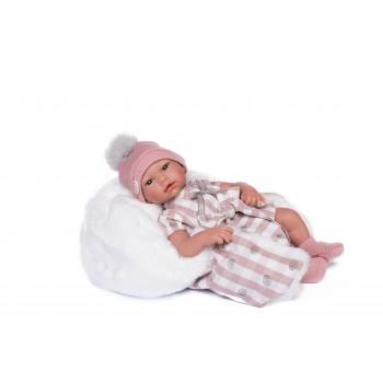 Lara Bebé con ropa rosa con...