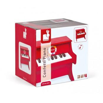 Piano Rojo Confetti