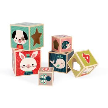 Píramide de 6 cubos Baby...