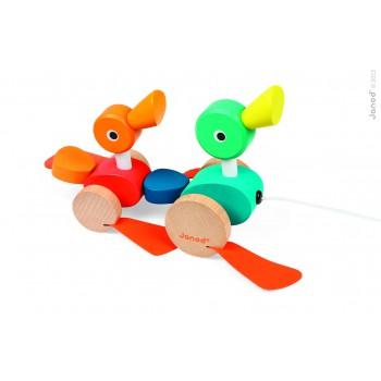 Familia de Patos de jalar