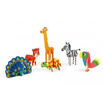 Manualidad Animales 3D para...
