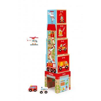 Torre de encaje con autitos
